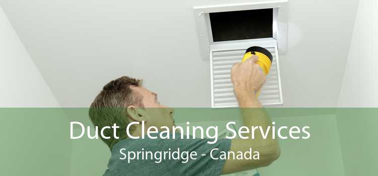 Duct Cleaning Services Springridge - Canada