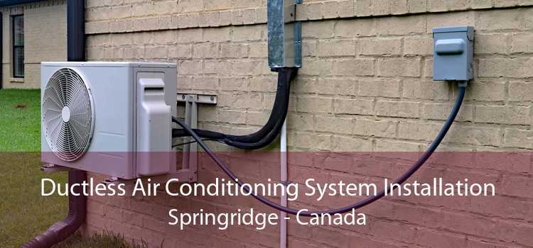 Ductless Air Conditioning System Installation Springridge - Canada