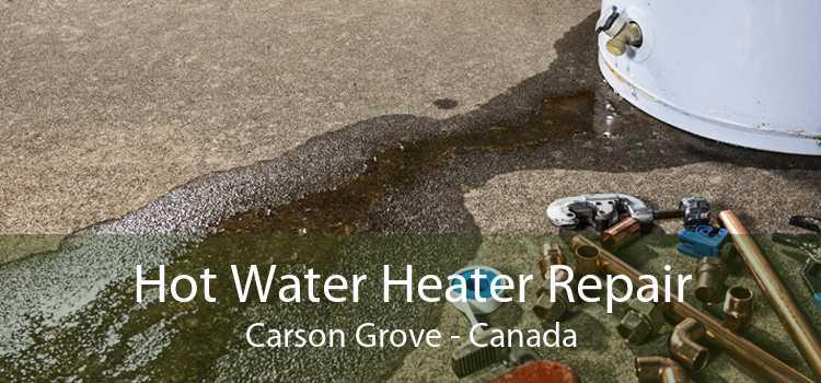 Hot Water Heater Repair Carson Grove - Canada